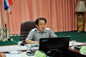 6ธ.ค.60 ประชุมคณะกรรมการฝ่ายกำหนดเส้นทางการจราจร พื้นที่จอดรถ การรักษาความสงบ และความสะอาด