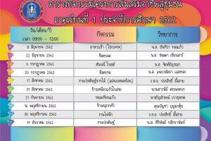 13มิ.ย.62 โรงเรียนเทศบาล2 (วัดสมอราย) ประชาสัมพันธ์ โครงการส่งเสริมอาชีพสู่ชุมชน