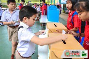 11มิ.ย.62 โรงเรียนเทศบาล2(วัดสมอราย)จัดให้มีการเลือกตั้งสมาชิกสภานักเรียน ประจำปี 2562