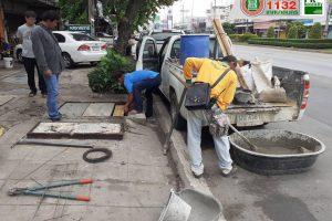 29ส.ค.62 สน.การช่าง เปลี่ยนฝาบ่อชำรุด บริเวณถนนท้าวสุระ ซอย 1,ถนนมิตรภาพ เลยทางเข้าเทคนิคและถนนสืบศิริ ซอย 6