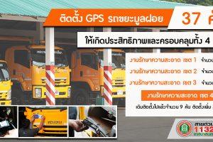 2 ต.ค.62 ติดตั้ง GPS ให้กับรถขยะมูลฝอยทั้ง 4 เขตครอบคลุมการเก็บขยะ