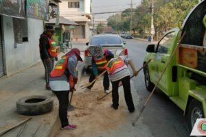 15 ม.ค.63 งานรักษาความสะอาด จัดชุดพัฒนาลงพื้นที่