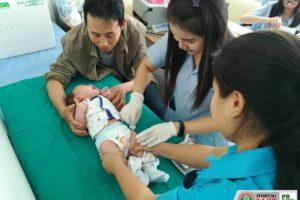 15 ม.ค.63 ให้วัคซีนเด็กแรกเกิด