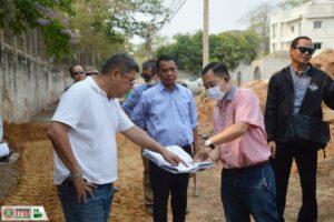 17 มี.ค.63 ลงพื้นที่ตรวจงานก่อสร้างภายในเขตเทศบาล