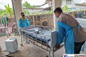 5 มิ.ย.63 ลงพื้นที่สนับสนุนอุปกรณ์การแพทย์(ให้ยืม)