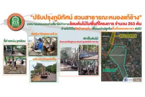 17 ก.ค.63 ปรับปรุงภูมิทัศน์ สวนสาธารณะหนองแก้ช้าง