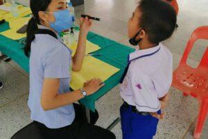 7 ส.ค.63 ตรวจสุขภาพนักเรียน ณ โรงเรียนวัดสุทธจินดา