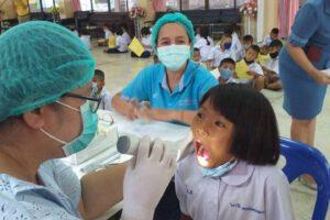 26 ส.ค.63 ลงพื้นที่ตรวจสุขภาพช่องปาก