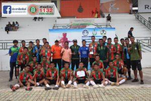 14 ก.ย.63 แสดงความยินดีทีมฟุตบอลคว้าแชมป์การแข่งขันกีฬานักเรียนนักศึกษาระดับจังหวัด ประจำปี 2563