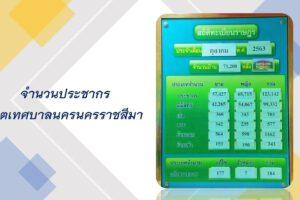 16 พ.ย.63 สถิติข้อมูลประชากรเดือน ตุลาคม 2563