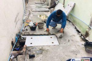 4 ก.พ.64 ฝาบ่อพักท่อระบายน้ำชำรุด