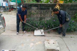 15 ก.พ.64 ปรับปรุงฝาบ่อพักท่อระบายน้ำ