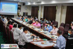 16 ก.พ.64 ประชุมหารือแนวทางการดำเนินโครงการวางท่อน้ำประปาและซ่อมแซมท่อน้ำประปาหลังนำสายไฟฟ้าลงดิน