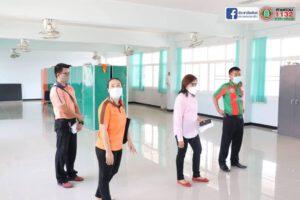 25 พ.ค.64 ตรวจสอบความสะอาดเรียบร้อยและติดตามมาตรการป้องกันเชื้อไวรัสโควิด19