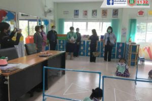24 มิ.ย.64 ตรวจประเมินการเปิดการเรียนการสอนศูนย์พัฒนาเด็กเล็ก