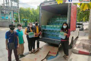 29 ก.ค.64 รับมอบน้ำดื่มจากบริษัทกรุงไทยค้าเหล็ก